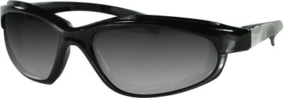 ZAN ARIZONA SUNGLASS BLK SMK LENS PART# EZAZ001