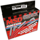 MSD 8.5MM SUPER CONDUCTOR SPARK PLUG WIRE KIT - 4 CYL. PART# 31449 NEW
