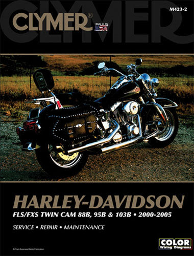 CLYMER 2000-2005 Harley-Davidson FXSTD Softail Deuce REPAIR MANUAL M423-2