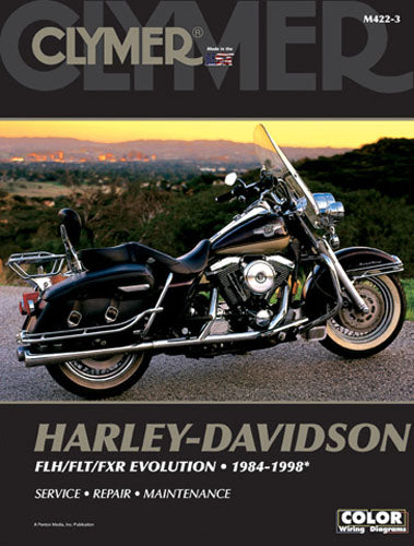 CLYMER 1986-1993 Harley-Davidson FXRS-SP Low Rider Sport REPAIR MANUAL M422-3