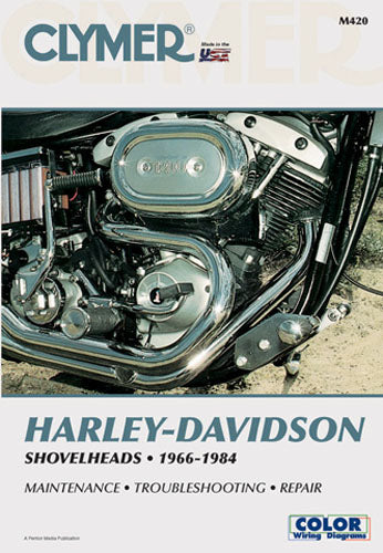 CLYMER 1977-1982 Harley-Davidson FXS Low Rider REPAIR MANUAL M420
