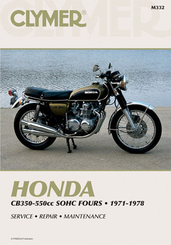 CLYMER 1975-1977 Honda CB550F Super Sport REPAIR MANUAL M332