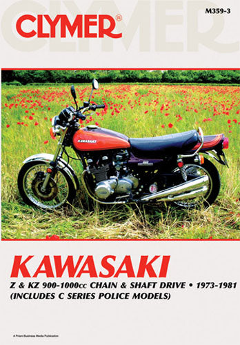 CLYMER 1978-1981 Kawasaki KZ1000C/P Police REPAIR MANUAL M359-3