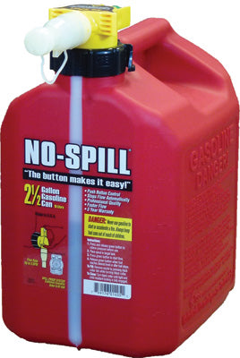 NO-SPILL GAS CAN 2.5 GAL 11.75X8X10 1405