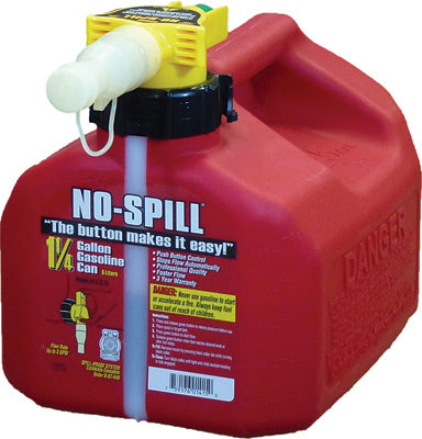 NO-SPILL GAS CAN 1.25 GAL 7.5X8X10 1415