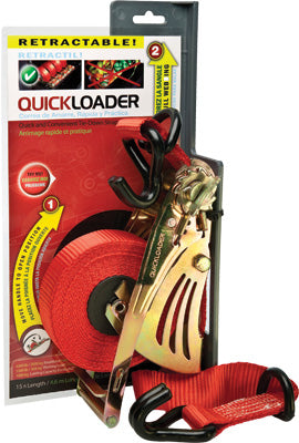 QUICKLOADER TIEDOWN RED 4500LB 15' PART# QL4500 TRYME