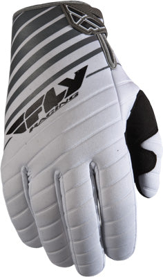 FLY RACING 907 MX GLOVES WHITE/GREY SZ 8 PART# 365-61408