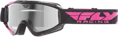 FLY RACING ZONE PRO SNOW GOGGLE PINK W/CHROME SMOKE DUAL LENS PART# 37-3031