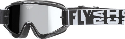 FLY RACING ZONE TURRET GOGGLE BLACK W/ CHROME/SMOKE LENS 37-4060