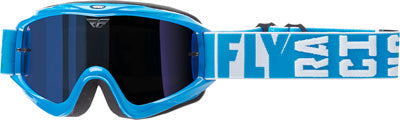 FLY RACING ZONE TURRET GOGGLE BLUE W/ BLUE MIRROR/SMOKE LENS 37-4061