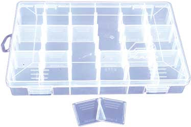 "PLANO 18 COMPARTMENT ORGANIZER 11X7- 1/4X1-3/8"" PART# 2360001"
