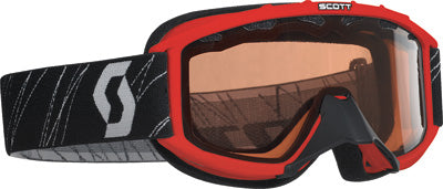 SCOTT 89SI YOUTH SNOCROSS GOGGLE RED W/ACS RED LENS PART# 217801-0004108