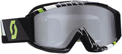 SCOTT 89SI PRO YOUTH GOGGLE RACE BLACK/GREEN W/SILVER LENS PART# 219810-4601269