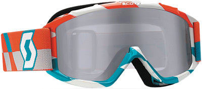 SCOTT 89SI PRO YOUTH GOGGLE TRACK ORANGE/BLUE W/SILVER LENS PART# 219810-4607269
