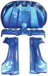 FULLBORE 4-PIECE BODY KIT (BLUE) PART# RHINO 4KIT BLU NEW