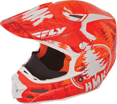 FLY SNOW F2 CARBON HMK PRO STAMP HELMET ORANGE/WHITE MEDIUM 73-4924M