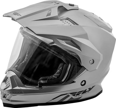 FLY RACING TREKKER HELMET SILVER 2X-LARGE PART# 73-70122X