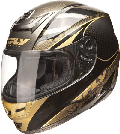 FLY RACING PARADIGM HELMET BLACK/GOLD 2X-LARGE PART# 73-8012-6