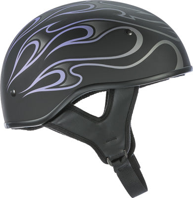 FLY RACING .357 HALF HELMET PURPLE FLAME 2X-LARGE PART# 73-8206-6