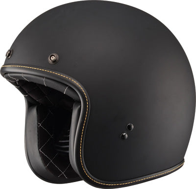 FLY RACING .38 RETRO HELMET MATTE BLACK 2X-LARGE PART# 73-82312X