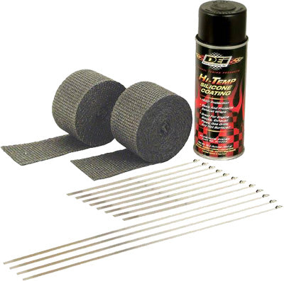 DEI EXHAUST PIPE WRAP KIT BLACK WRAP W/BLACK COATING PART# 901330 NEW