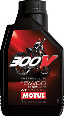 MOTUL 300V OFFROAD 4T COMPETITION SY NTHETIC OIL 15W-60 LITER PART# 102710 / 104