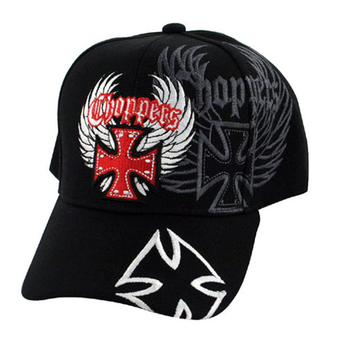 ZANheadgear CPHH06 CAP HIGHWAY HONEY GOTHIC CROSS WHITE