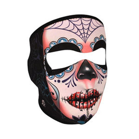 BALBOA FULL MASK NEOPRENE FLEECE LINED SUGAR SKULL WNFL091