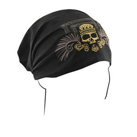 BALBOA HEADWRAP COTTON HIGHWAY HONEY&REG GOLDEN SKULL HBHH02