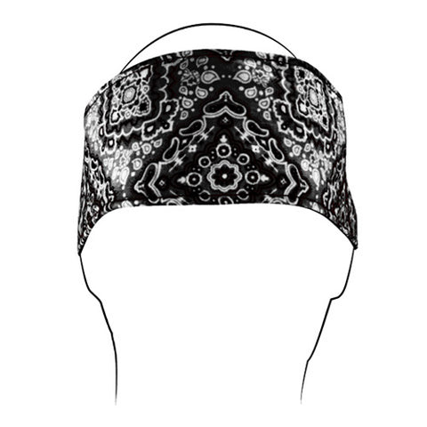 BALBOA HEADBAND COTTON BLACK PAISLEY HBV101