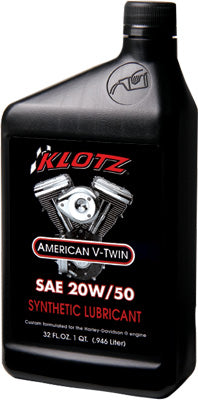 KLOTZ AMERICAN V-TWIN SYNTHETIC LUBRICANT 20W-50 32OZ PART# KH-2050