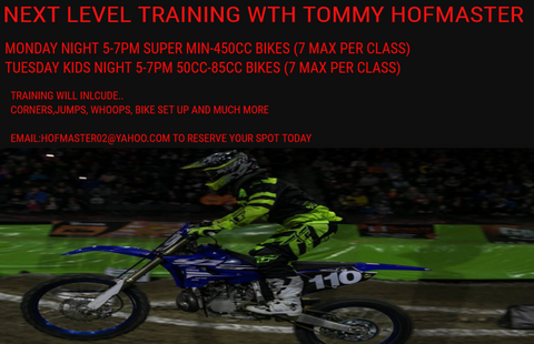 NEXT LEVEL TRAINING GROUP LESSON 50CC-SUPERMINI 4 WEEK SESSION STARTING THURSDAY WHEN WEATHER BREAKS