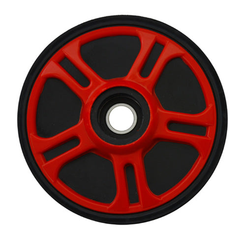 "PPD 04-200-34 IDLER WHEEL 6.38"" WITH .625 INSERTS FIRE RED"