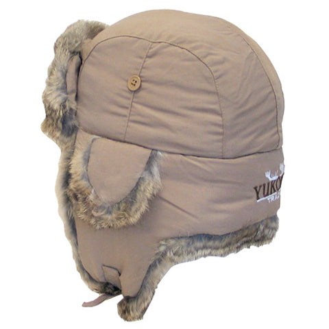 YUKON HG632 TASLAN ALASKAN HAT TAN WITH BROWN FUR LARGE