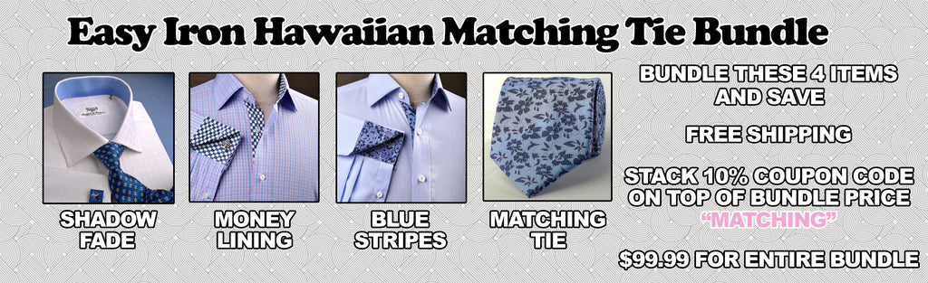 Hawaiian Hibiscus Matching Tie Bundle