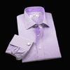Classic Pink Gingham Check With Blue Paisley Inner Lining Dress Shirt