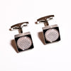 B2B Shirts - Silver Check Square Button Men's Cuff Links Sexy Luxury Top Fashion Jewelry Cufflinks - Business to Business