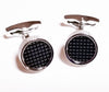 B2B Shirts - Silver Black Check Round Button Men's Cuff Links Sexy Luxury Top Fashion Jewelry Cufflinks - Business to Business