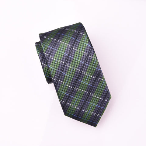 "B2B Shirts - Green Neat Jacquard Check Luxury Film Strip Modern Tie 3"" - Business to Business"