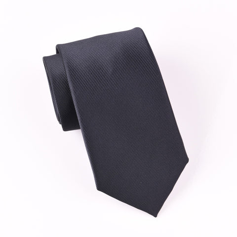 "B2B Shirts - Classic Plain Solid Black Twill Sexy Trending Skinny Woven Tie 3"" - Business to Business"