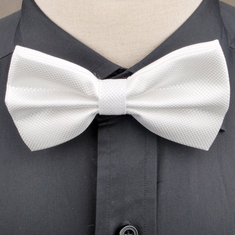 B2B Shirts - White Diamond Marcella Wedding Tuxedo Bow Tie Luxury Fashion - Business to Business