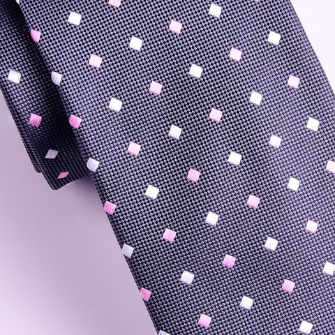 "UK Style Brown Dot 3"" Necktie Business Elegance  For Formal Business Occasion"