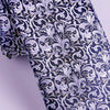B2B Shirts - Italian Florence Silver Fluer-De-Lis 8cm Necktie Business Elegance  For Formal Business Occasion - Business to Business