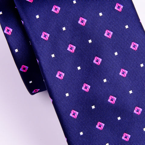 "Italian Style Purple Pink Dot 3"" Necktie Business Elegance  For Formal Business Occasion"
