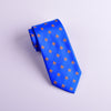 B2B Shirts - Italian Unique Blue Fluer-De-Lis 8cm Necktie Business Elegance  For Formal Business Occasion - Business to Business