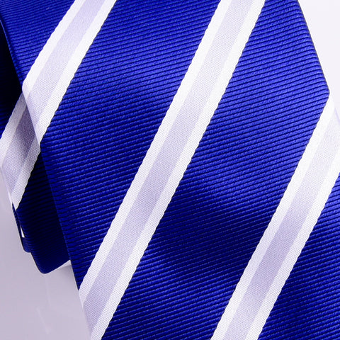 B2B Shirts - UK Style Navy Blue & Silver 8 CM  Necktie Business Elegance  For Formal Business Occasion - Business to Business