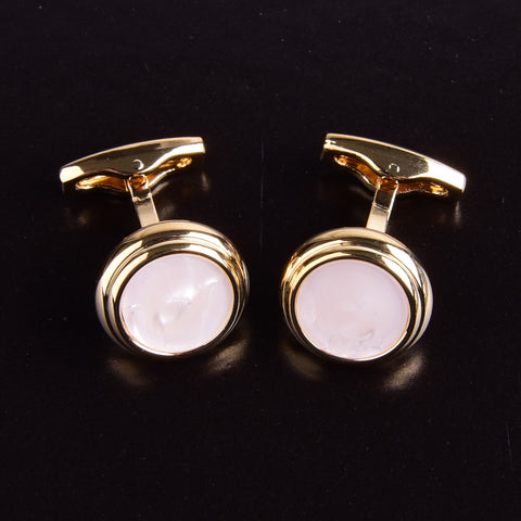 B2B Shirts - Opal Style Button Men's Cuff Links Sexy Luxury Fashion Gold Jewelry Cufflinks - Business to Business