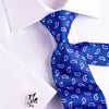 "B2B Shirts - UK Style Blue Paisley 3"" Necktie Business Elegance  For Formal Business Occasion - Business to Business"