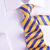 B2B Shirts - UK Style Goose Yellow & Blue 8 CM  Necktie Business Elegance  For Formal Business Occasion - Business to Business