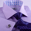 B2B Shirts - Lilac Designer Twill Formal Business Dress Shirt FLuer-De-Lis Inner-Lining Fashion - Business to Business